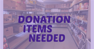 Current Food Pantry Needs