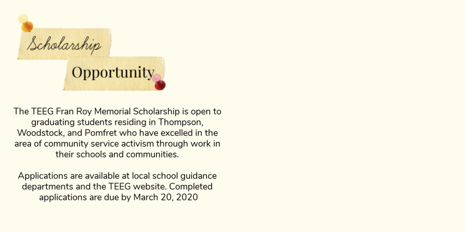 Fran Roy Scholarship